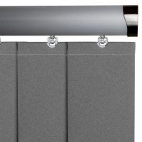 Senses Vertical Head Rails (Silver Series)