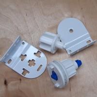 32mm Roller Blind End Set (Louvolite) Blue Pin Easi-Load