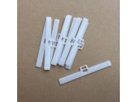 "Vertical Top Hangers 89mm (3.5"") WHITE Pack 10"
