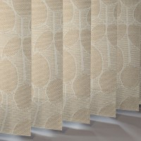 Vertical Slats in 60% Polyester / 40% Acrylic FOLIAGE REFLEX - 2 Colourways