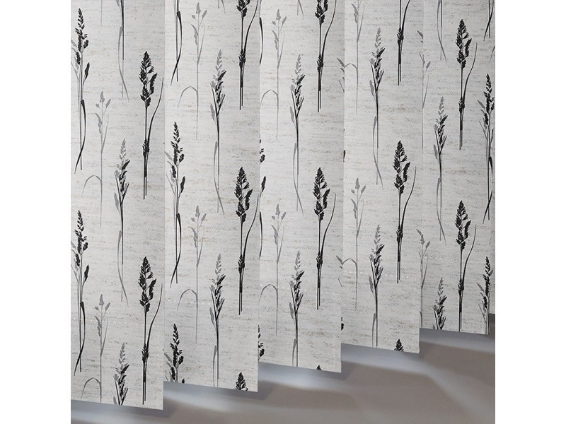 Vertical Slats in 89% Polyester / 11% Linen GRASSES - 2 Colourways