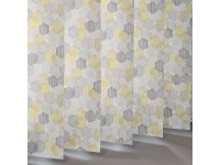 Vertical Slats in 100% Polyester HEXAGON - 3 Colourways
